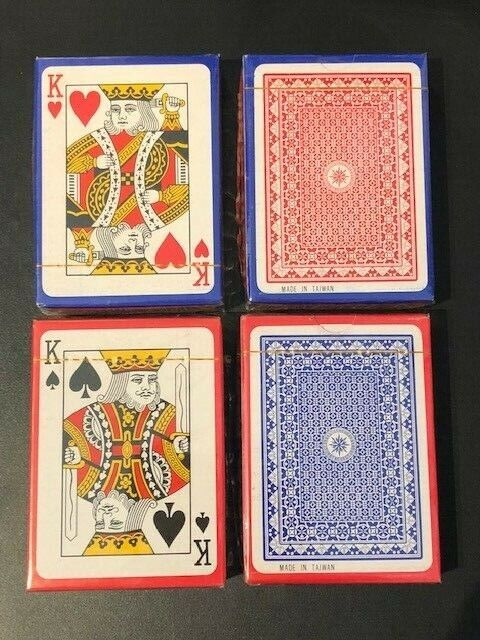 Plastic Coated Playing Cards Made in Taiwan 48 Packs Sealed BRAND NEW POKER SIZE