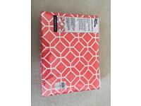 BNWT POP by Sheridan Azuma King size Duvet Cover 2 Pillow Cases Sorbet (Coral Orange) RRP £105