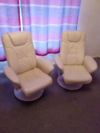 Quick Sale - 2 x Cream Armchairs