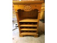 Solid Pine Wine Rack and Book Case