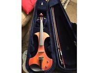 Fullsize brown/red moondog electric violin