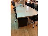 11 - 2 Person/Position, Pod/Bench desks cream £110 each