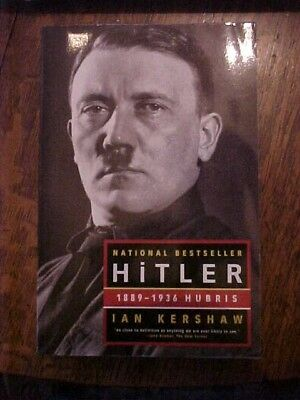 2000 Book  Hitler 1889 1936 Hubris By Ian Kershaw