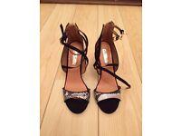 Miss KG Black & White Heels - Size 5 - Brand New in Box (original price £80)