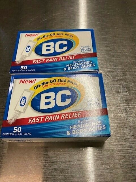 BC Aspirin Fast Pain Relief Powder | Relieves Headache & Bod