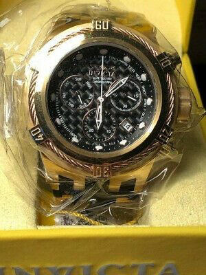 Invicta Watch 22446 Bolt Zeus 56mm Swiss Quartz Chrono Rose Gold Case NEW