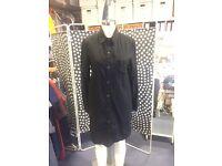 Rag & Bone Black Shirt Dress, size M
