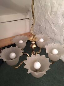 Five light ceiling light fitting