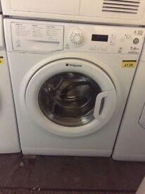 Hotpoint 7kg washing machine with 6 month warranty