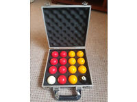 Aramith Premier Red & Yellow 2 Inch Pool Balls