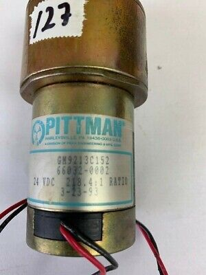 Pittman Gear Head Motor Gm9212c152 24vdc 218.41 Ratio Dc Motor
