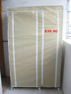 New Wardrobes with 4 or 5 Shelves Curtain Covers Included $39.90 Regents Park Logan Area Preview