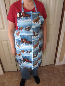 Women's perma press cotton Apron's -small to extra large
