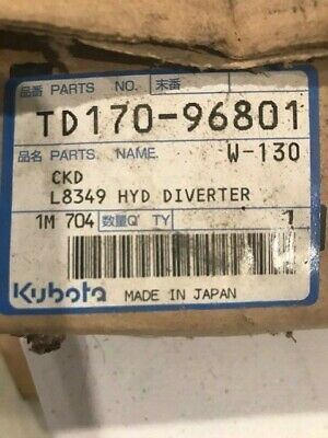 Kubota L8349 Hyd Diverter For 40 Series Tractors Gneration 1 2 Oem Part New