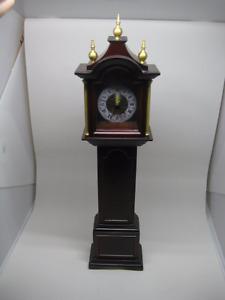 "2001 Bombay Company Small Miniature Grandfather Clock 16"" Tall"