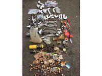 Stanley Rolling Case + Plumbing Tools + Parts