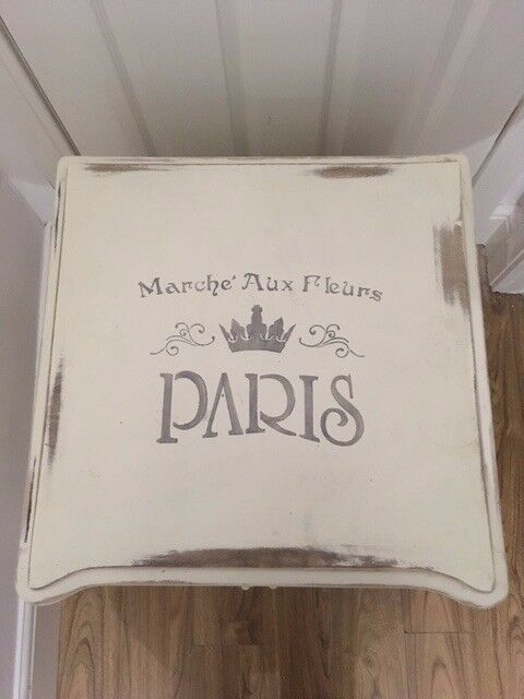 *REDUCED* French style shabby chic bedside / storage cabinet