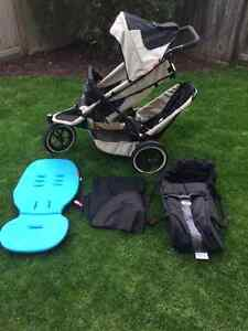 Phil & Teds Sport Single/Double Stroller with Accessories
