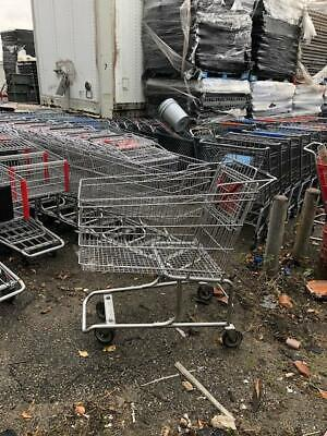 Shopping Carts Large Metal Black Lot 8 Used Store Fixtures Shop Baskets Grocery