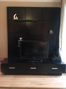 Like New Solid Wood Entertainment Unit