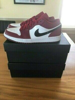Nike Jordan 1 Low Noble Red Size 8 DS Brand New