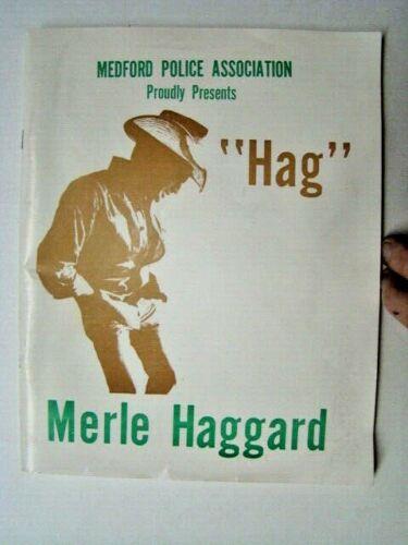 "Vintage ""Hag"" Merle Haggard Country Music Concert Program Medford OR"