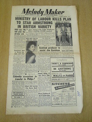 MELODY MAKER 1952 AUGUST 2 MINISTRY OF LABOUR BBC HMV STARGAZERS JIM DAVIDSON