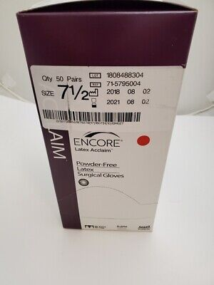 Ansell Encore Acclaim Latex Powder Free Surgical Gloves 71-5795004 Size 712