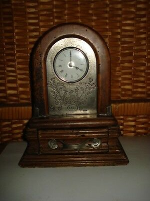 RARE VINTAGE HERMLE QUARTZ MANTLE CLOCK WATCH ORIGINAL MARKED