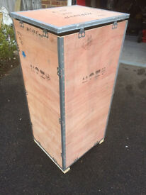 Steel Banded Shipping Crate