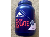 MULTIPOWER 100% Whey Isolate Protein powder, 725g, BNIB