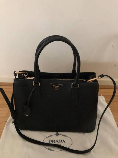 7062703267b0 ... canada authentic prada saffiano black leather shoulder bag bags gumtree  ec1de 49040 ...