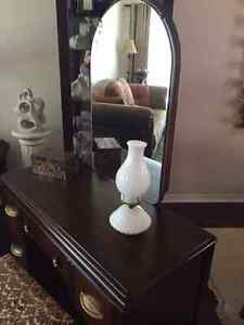 Vintage Vanity Dresser with Mirror and Stool Strathcona County Edmonton Area image 5