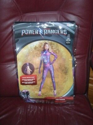 Power Rangers Saban Pink Ranger Adult Womens Full Bodysuit Costume New SZ 12/14 ](Power Rangers Womens Costume)