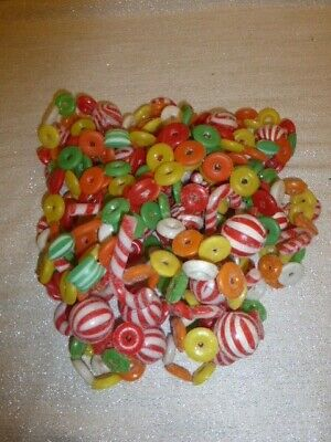 """3 Vintage Christmas Plastic Garland Sugared Candy Cane Blow Mold 27 Feet or 324"""""""