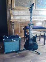 Guitar and tube amp combo