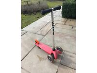 Micro mini scooter in red with t-bar handle - Collection only