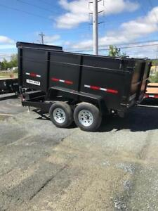 NEW 2019 BRIMAR  7X12  DUMP TRAILER 12K