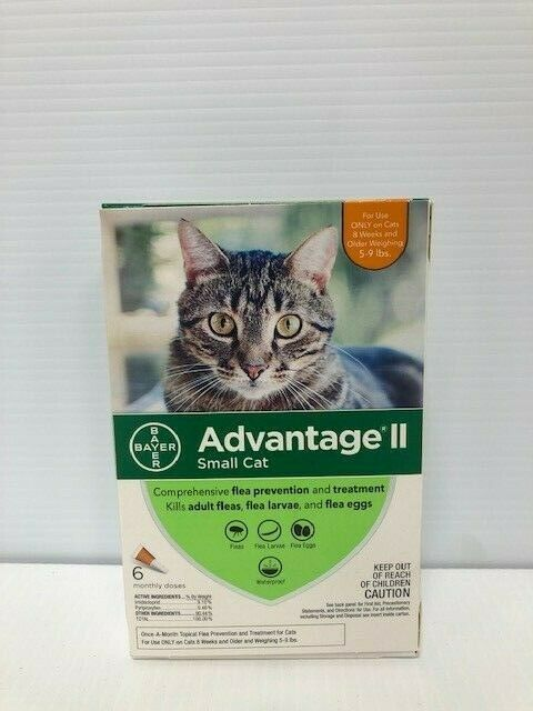 Advantage II Once-A-Month Topical Small Cat Flea Treatment,