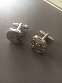 Cufflinks made from watch pieces, Brand New