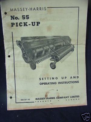Massey Harris No. 55 Pick -up Operating Manual