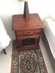 2 Wooden Bedside Tables and a Set of drawers with Mirror Oatley Hurstville Area Preview