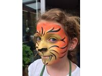 Experience face painter available