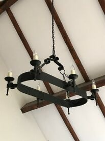 Gothic Style Large Light Fitting - Black
