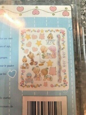 Girl Self-Stick Wall Appliques/Decorations Baby Shower Gift Precious Moments NEW - Precious Moments Baby Shower Decorations