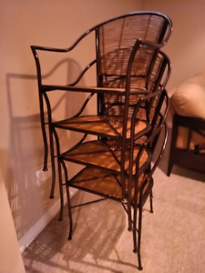 Wrought Iron Chairs and Bamboo