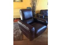 LEATHER SWIVEL ARMCHAIR FROM FURNITURE VILLLAGE