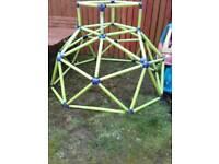 Climbing frame and playhouse