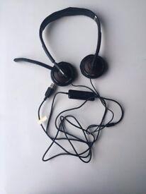 Plantronics Blackwire C420-M, USB corded, Black headband (Duo) Binaural Headset