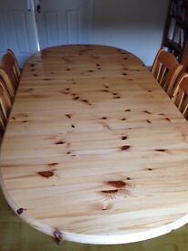 Pine Oval (extendable) Dining Table